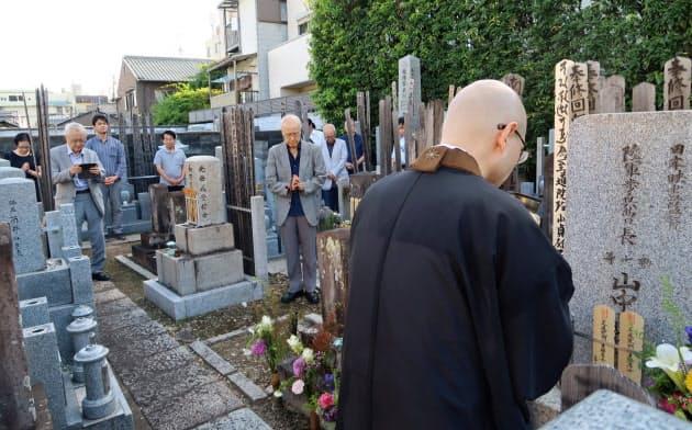 京都の大雄寺で開かれた「山中貞雄を偲ぶ会」