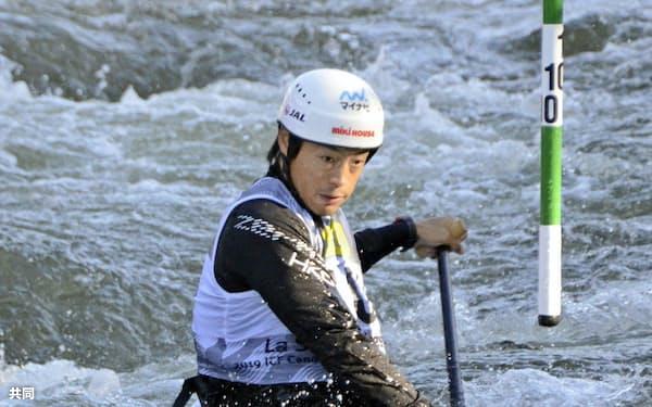 男子カナディアンシングル 予選1回目で27位の羽根田卓也(26日、セオデウルヘル)=共同