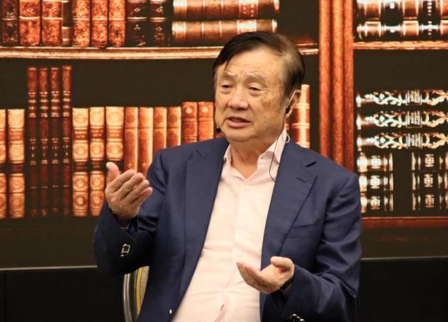 26日、広東省深圳市の本社で開いたイベントに出席したファーウェイの任正非CEO
