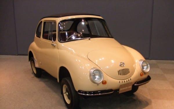 1958年に軽自動車「スバル360」(写真)を発売。乗用車事業に本格参入した