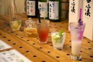 池田町の日本酒&ハーブのカクテルコンペの入賞作品