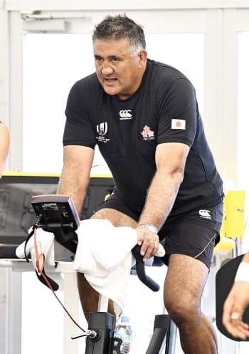 ラグビー日本代表のジェイミー・ジョセフ・ヘッドコーチ(30日、東京都内)=共同