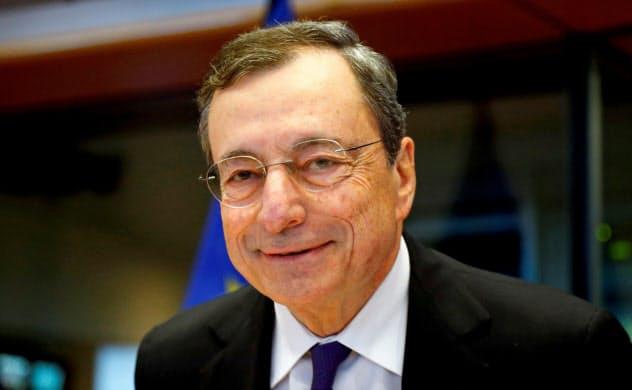 ECBのドラギ総裁=ロイター