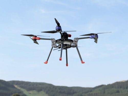 エアロジーラボが開発するドローンのイメージ。ハイブリッド型のため30キロ飛行できるという
