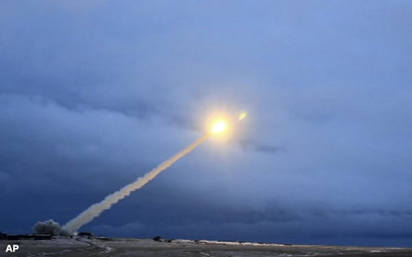 プーチン大統領が言及した原子力推進ミサイルのイメージ画像(AP)