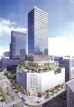 名古屋三越のビル建て替え後のイメージ図=オリエンタルビル提供