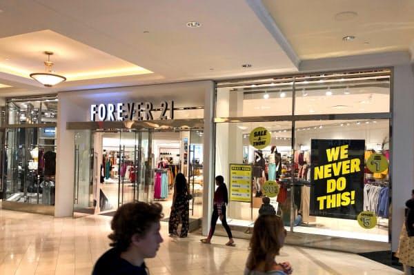 破綻したフォーエバー21はショッピングセンターに積極的に出店していた(米ペンシルベニア州)=ロイター