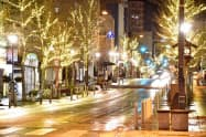 善光寺表参道イルミネーションは長野市の人気イベントになりつつある(写真は2018年度の様子)