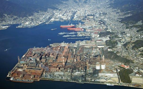 日本製鉄は日鉄日新製鋼を合併した(旧日新の呉製鉄所)