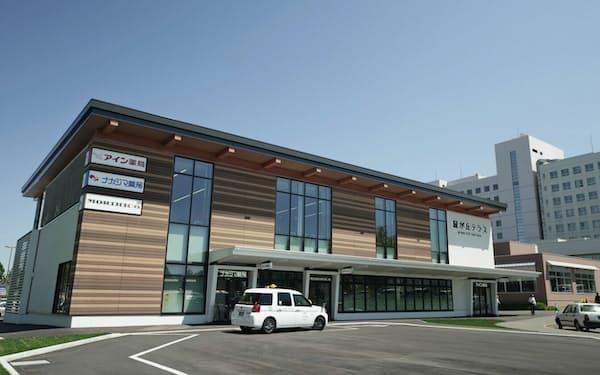 アインHDは規制緩和で可能になった大学敷地内への出店を強化している(旭川医大の店舗)
