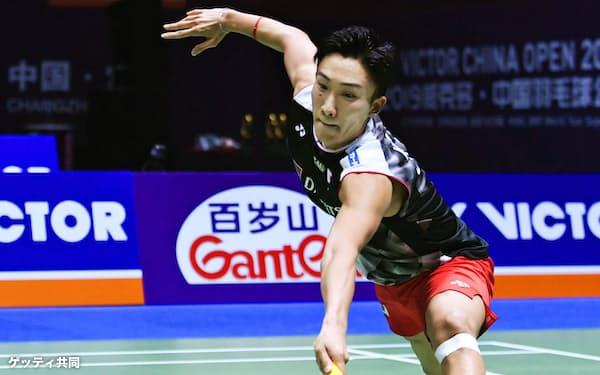 バドミントンの中国オープンで初優勝を飾った桃田賢斗=ゲッティ共同