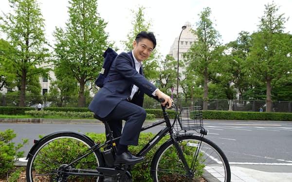 山下貴司氏は法相退任後に自転車を新調した