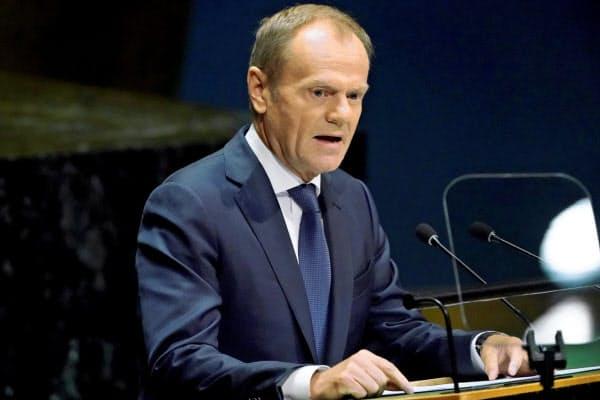 EUのトゥスク大統領=ロイター