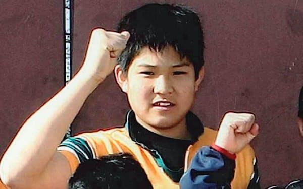 ラグビーを始めた中学1年当時の姫野選手=松浦要司さん提供