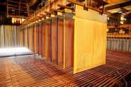 景気後退観測で銅が売られた(電解銅の生産工程)