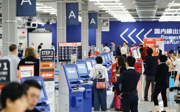 開業した中部国際空港の第2ターミナル(9月20日、愛知県常滑市)