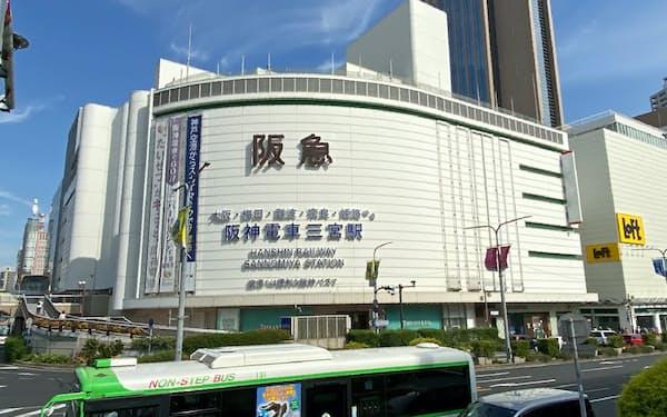 そごう神戸店は「神戸阪急」に(1日午前、神戸市)