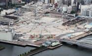 築地市場跡地(東京都中央区)は、東京五輪・パラリンピック時に駐車場として使われる