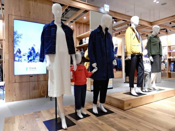 オンワードは立ち上げから約1年のブランド「フィールドドリーム」から撤退(千葉県千葉市の店舗)