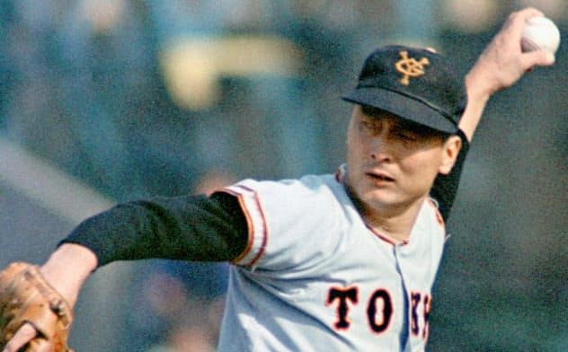 巨人時代の金田正一投手(1969年10月)=共同