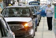 東南アジア経済には下押し圧力がかかっている(タイの三菱自動車工場)