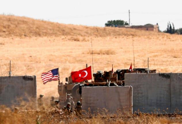 米、トルコ両軍はこれまでシリア北部で合同パトロールを実施していた(9月8日)=ロイター