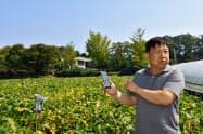 5Gを使ってセンサーが土壌の状態を完治し自動で散水する(台城洞)