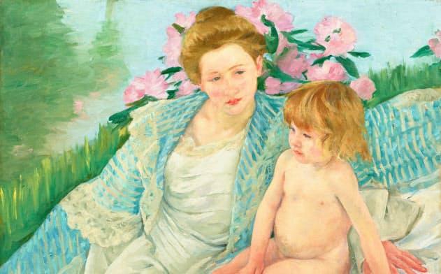印象派は女性作家を拡充した。メアリー・カサット「日光浴(浴後)」(1901年)
