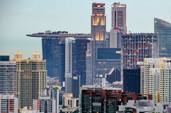 WEFの「世界競争力報告」で1位となったシンガポールの中心部=ロイター