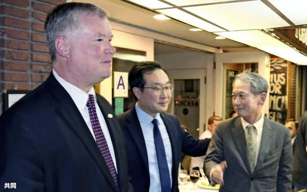 日米韓高官は米朝協議の決裂を踏まえて対応を協議した(写真は9月下旬の協議)=共同