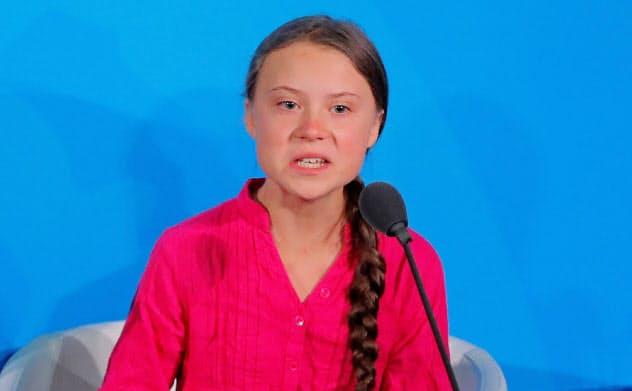 トゥンベリさんは9月23日、国連の気候行動サミットで「私たちを失望させたら、決して許さない」と首脳らに訴えた=ロイター