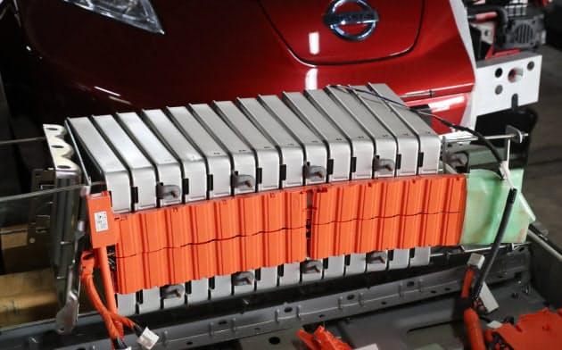 電気自動車のリチウムイオン電池