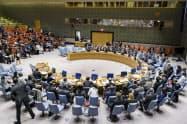 国連の安全保障理事会(ニューヨーク)=国連提供