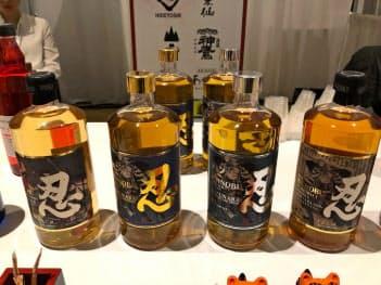 「忍」漢字が目立つ。ジャパニーズウイスキー人気が追い風となるか