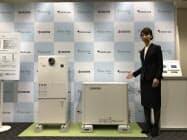 東京ガスと京セラが発売する小型化した家庭用燃料電池。集合住宅での需要を見込む