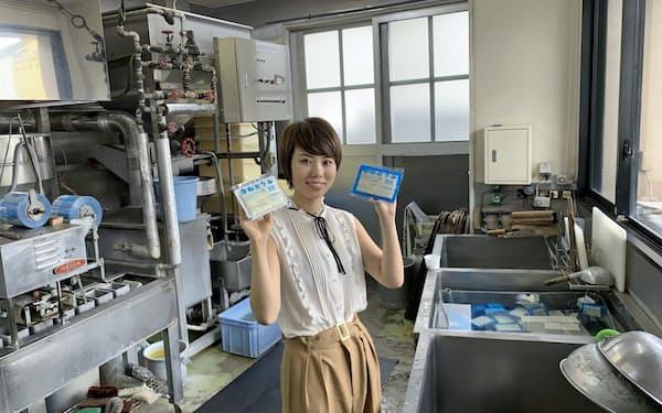 日本マイクロソフトの佐藤沙里那さんは、週休3日を活用して実家の豆腐店のネット販売サイトを立ち上げた(千葉県船橋市)