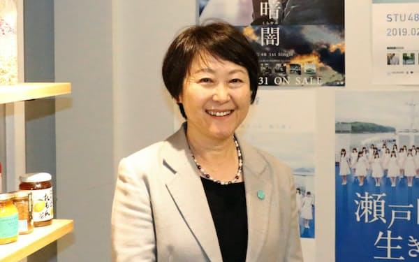 せとうちDMOの新トップに就任した金平京子専務理事