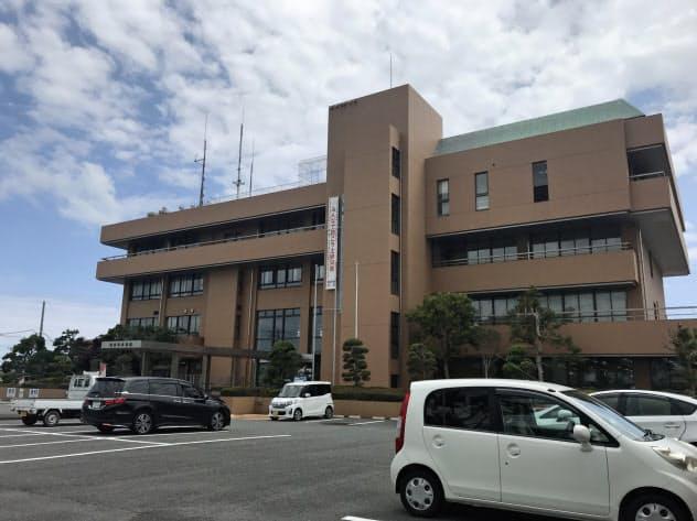 住民投票の結果を受けた市の対応が注目される(静岡県御前崎市役所)