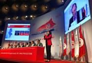 チュニジアの選挙管理委員会は9日、議会選の暫定結果を発表した=ロイター