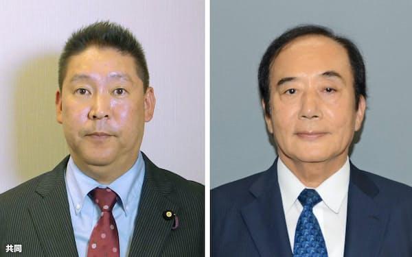立花孝志氏、上田清司氏