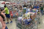 米消費者物価は9月、食品などの値上がりをガソリンなどの値下がりが相殺し、前月比で横ばいだった=AP