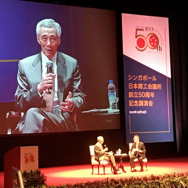 リー・シェンロン首相は香港の現状に懸念を示した(10日、シンガポール)