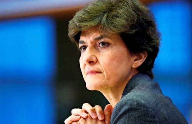 欧州議会は仏出身のグラール氏の欧州委員就任を承認しないと決めた(10日、ブリュッセル)=ロイター