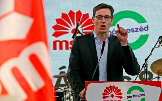 ハンガリーの反オルバン政権派結束のカギを握るブダペスト市長選候補、カラーチョニ氏=ロイター