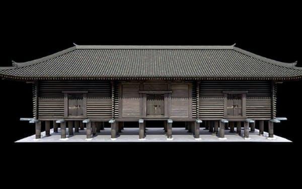 凸版印刷が制作した正倉院正倉の仮想現実(VR)のイメージ