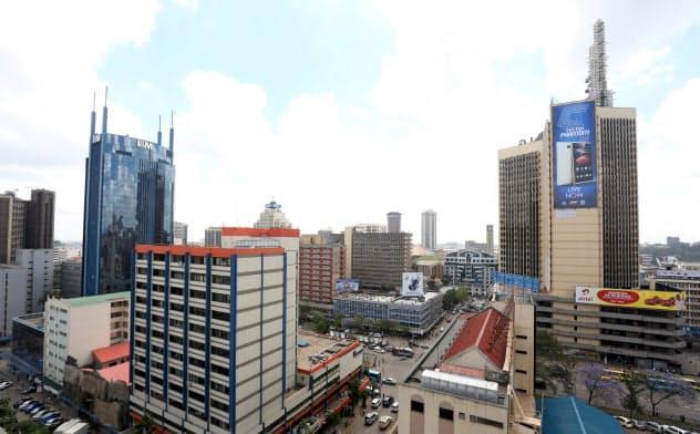 ケニアの首都ナイロビ。アフリカの人口は他のどの地域よりも急速に増加している=ロイター