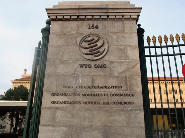 WTOは貿易の紛争処理で二審制を採用している(スイス・ジュネーブの本部)