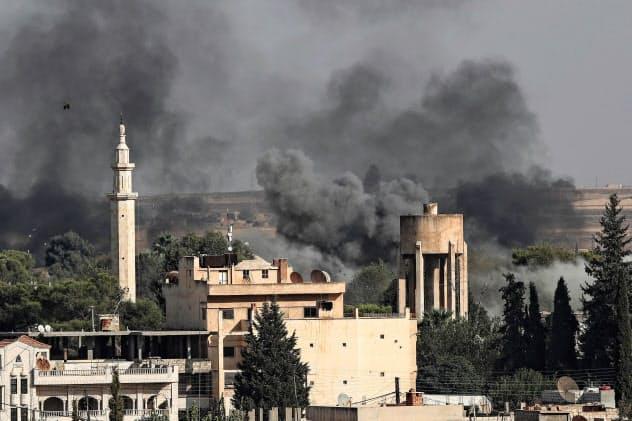 トルコの攻撃は大規模な戦闘に発展した(シリア北東部ラス・アルアイン)=共同