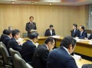 埼玉県は台風対策会議を開き、対応方針を確認した(11日、埼玉県庁)