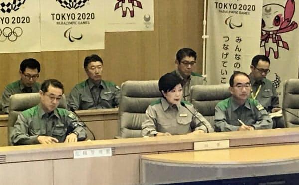 小池知事は都内での対応に加え他県への支援も指示(都庁)